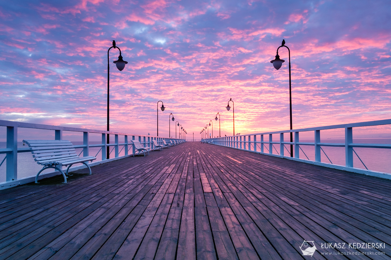 molo w orłowie wschód słońca sunrise