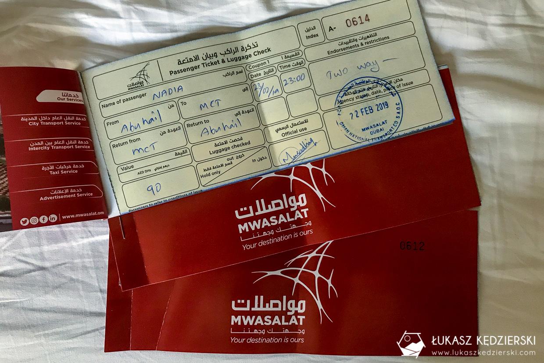 oman informacje praktyczne bilety do omanu autobus mswalat