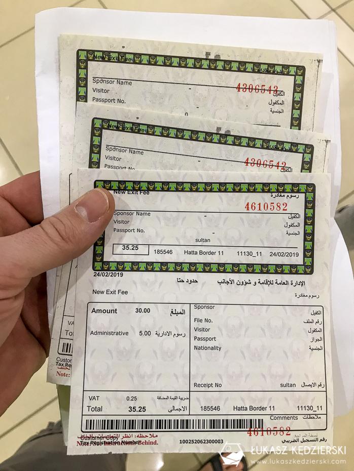 oman informacje praktyczne opłata wyjazdowa z ZEA