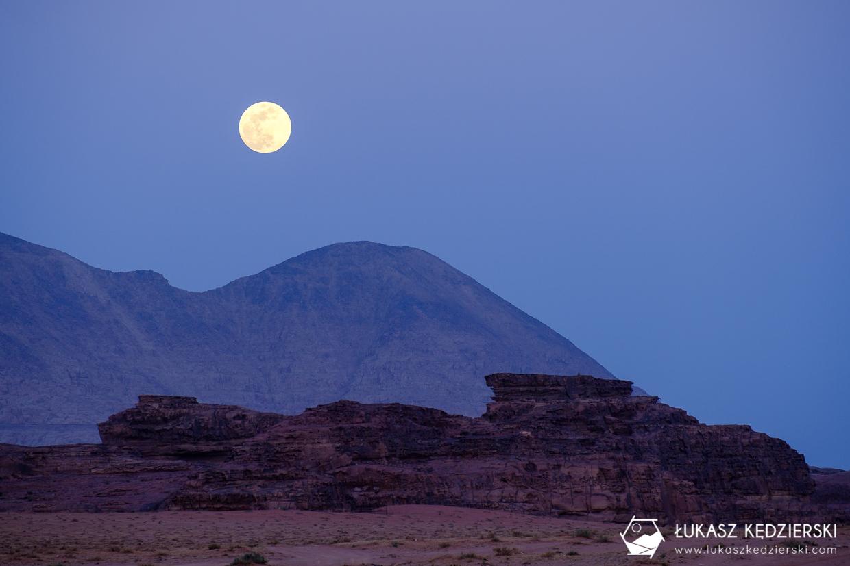 wadi rum moon night
