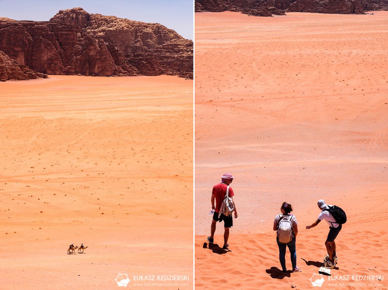 jordania wadi rum red sand dune czerwona wydma sandboarding