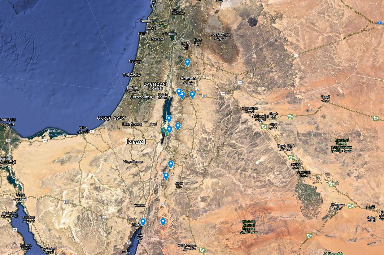 jordania plan podróży mapa