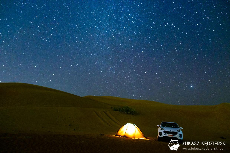 oman wahiba sands pustynia noc