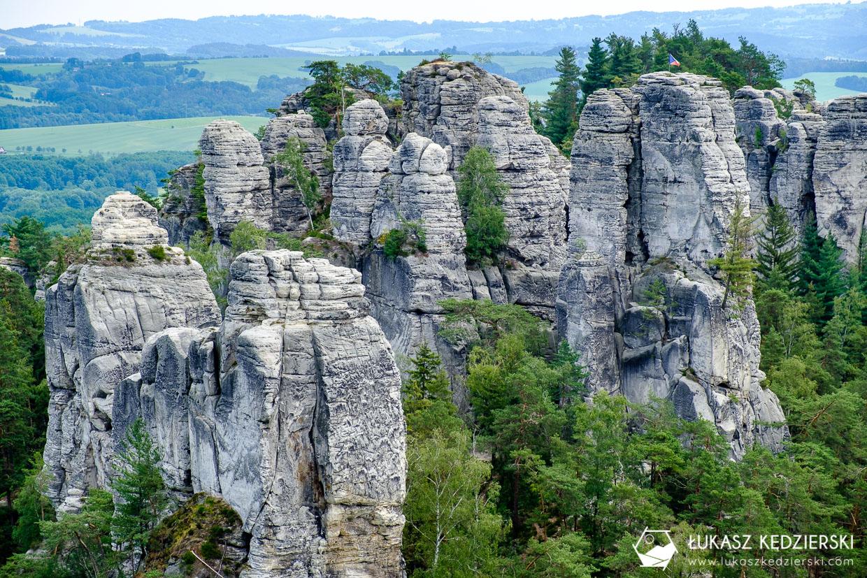 czeski raj Hruboskalsko szlak skalne miasto Janova vyhlidka