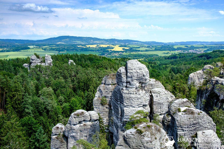 czeski raj Hruboskalsko szlak skalne miasto Vyhlidka U Lvíčka