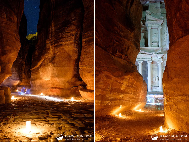 jordania petra by night petra nocą nocne zdjęcia petra
