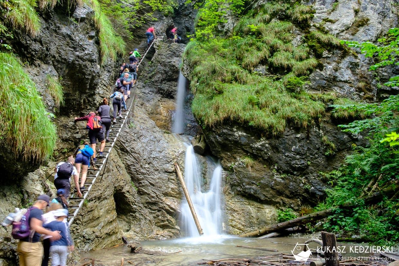 słowacja słowacki raj Slovenský raj sucha bela Suchá Belá Misové vodopády