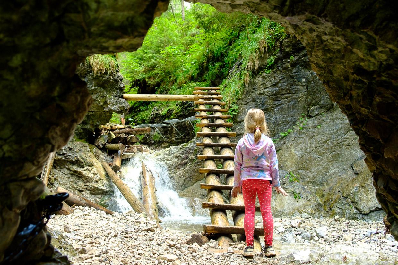 słowacja słowacki raj Slovenský raj sucha bela Suchá Belá Okienkový vodopád
