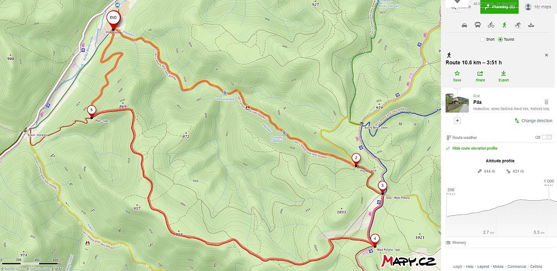 słowacki raj wąwóz piecky mapa szlaku