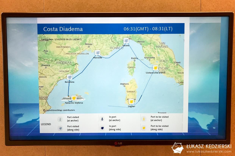 rejs statkiem wycieczkowym costa diadema trasa costa cuise