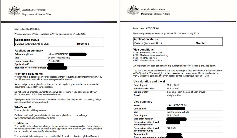 australia informacje praktyczne wiza wniosek o wizę do australii