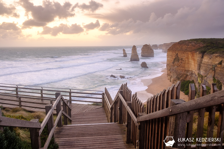 australia great ocean road 12 apostles twelve apostles 12 apostołów sunset zachód słońca