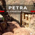 Petra – szlak Al-Khubtha Trail z widokiem na Skarbiec