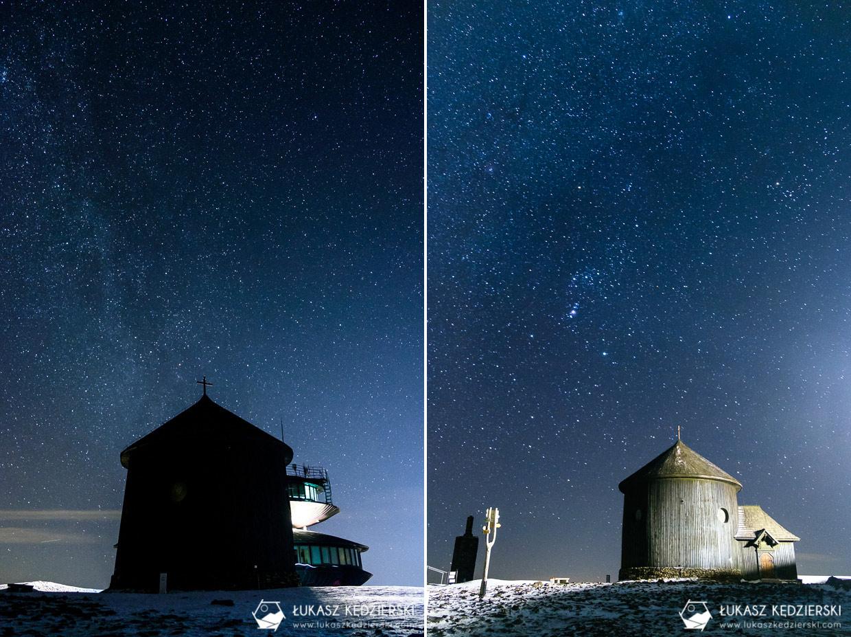 karkonosze nocą zdjęcia nocne zdjęcia karkonoszy nocne zdjęcia kaplica św Wawrzyńca