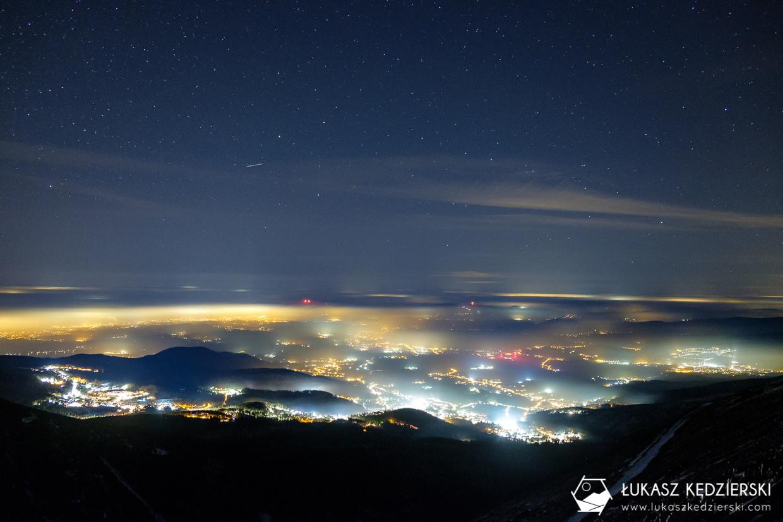 karkonosze nocą zdjęcia nocne zdjęcia karkonoszy nocne zdjęcia szlak na śnieżkę