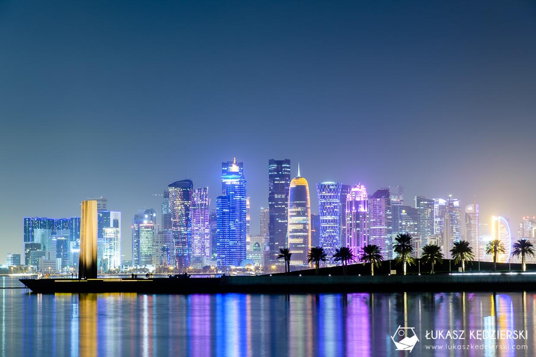 katar doha skyline night photos doha skyline zdjęcia nocne zdjęcia