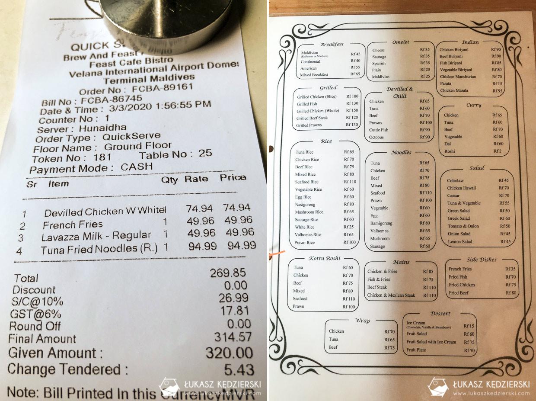 malediwy informacje praktyczne ceny jedzenia
