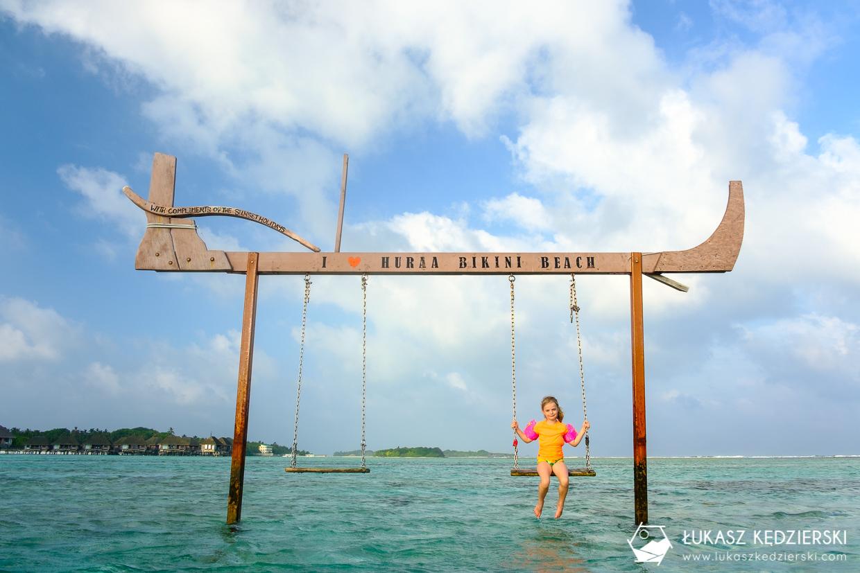 malediwy huraa lokalna wyspa huśtawka