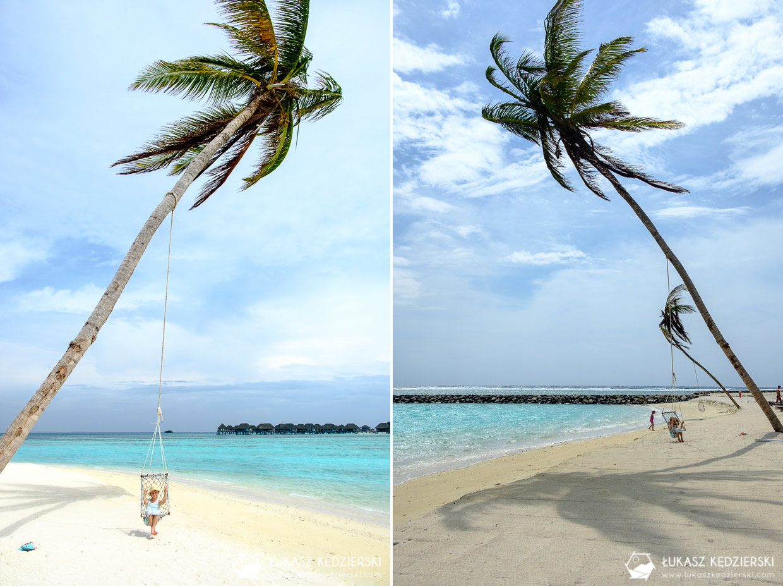 malediwy huraa lokalna wyspa huśtawka plaża bikini bikini beach