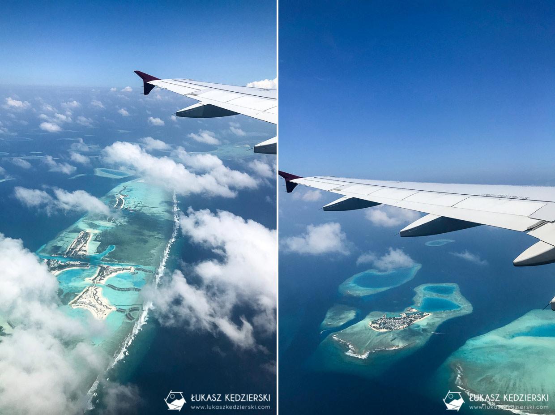 malediwy informacje praktyczne lot nad wyspami
