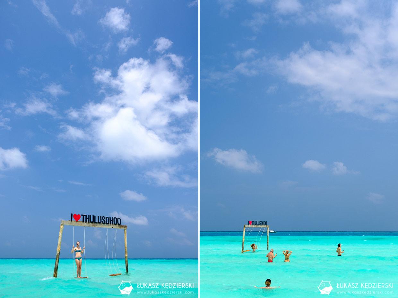 malediwy thulusdhoo lokalna wyspa plaża bikini beach