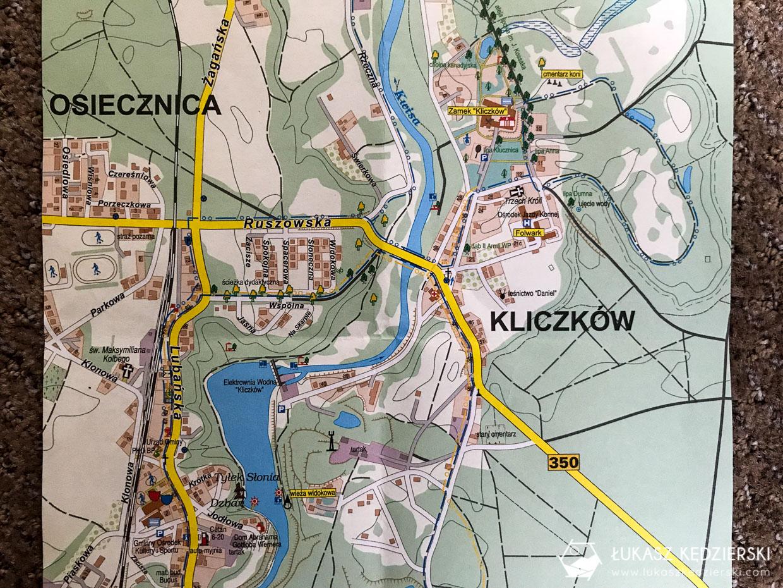 zamek kliczków dolny śląsk atrakcje mapa